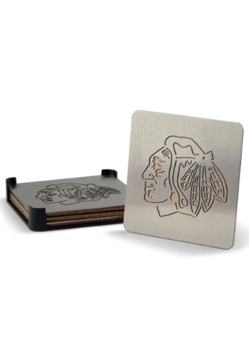 Chicago Blackhawks Boaster Coaster Set