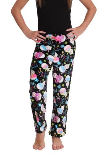 Girl's Snowman Print Plush Lounge Pants