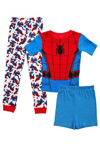 Spider-Man Boy's 3 Piece Pajama Set
