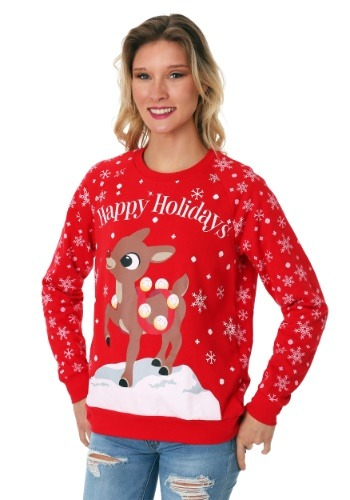 Rudolph Junior Ladies Holiday Sweatshirt
