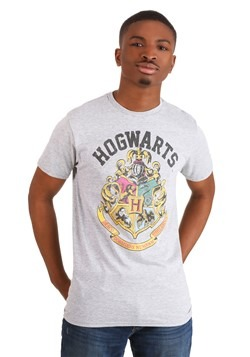 Harry Potter Hogwarts Crest Men's Athletic Heather T-Shirt