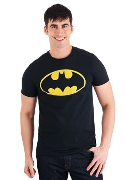Men's Batman Logo Black T-Shirt