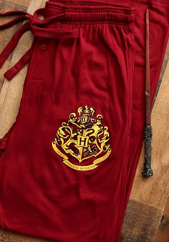 Harry Potter Hogwarts Crest Burgundy Sleep Pants