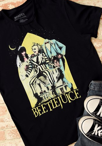 Beetlejuice Men's Black Tee