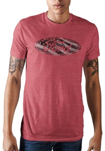 Ford Americana Men's Flag Logo Red Tee