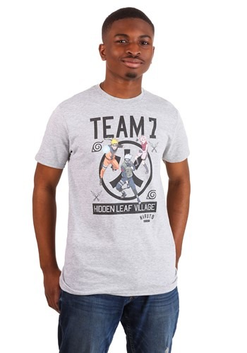 Mens Naruto Team 7 Heather T-Shirt