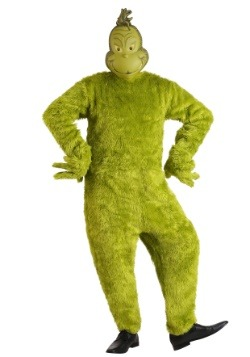 Men's The Grinch Santa Deluxe Jumpsuit with Mask Costume