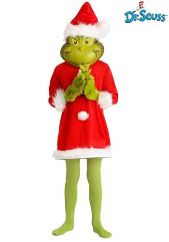 Child The Grinch Santa Deluxe Costume with Mask update2