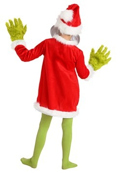 Child The Grinch Santa Deluxe Costume with Mask Alt 3