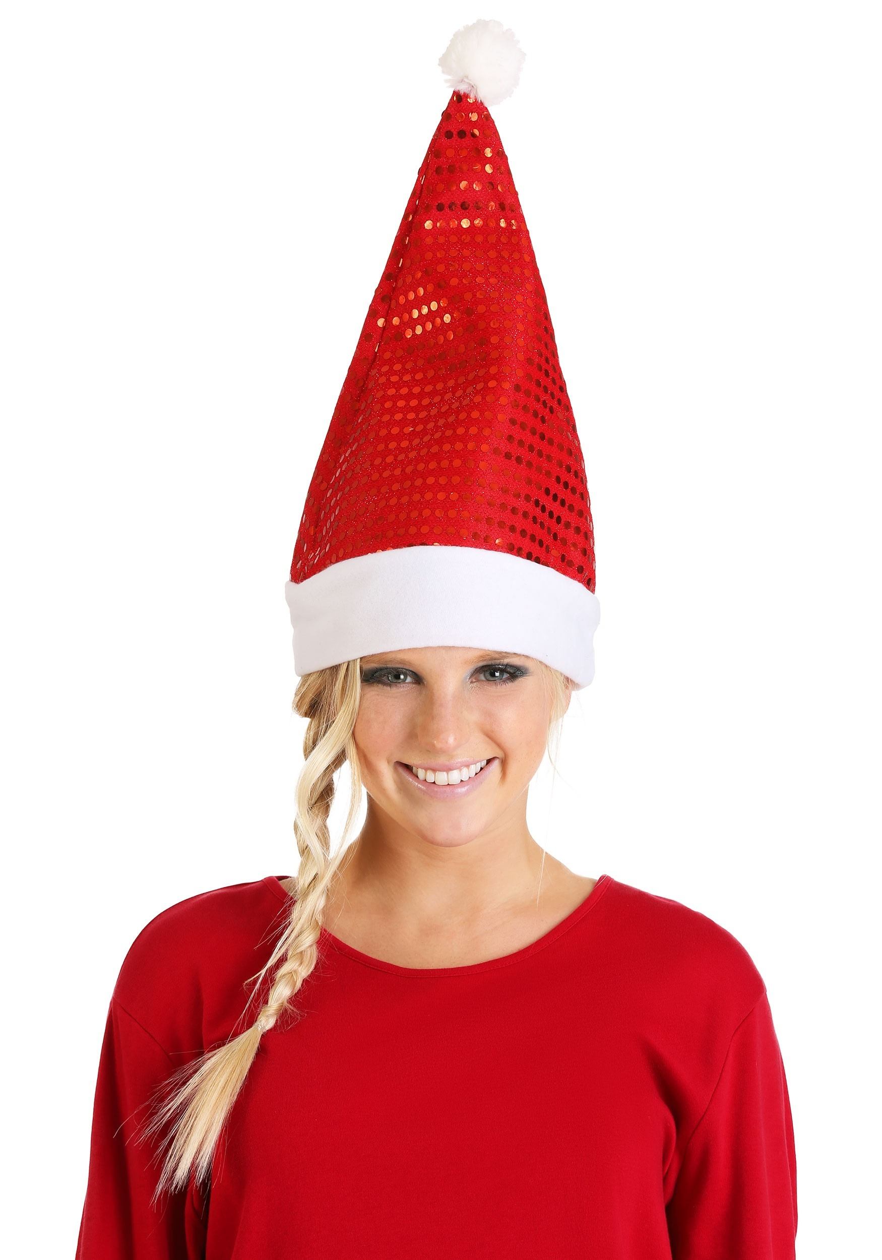 Santa Hat With Red Sequin
