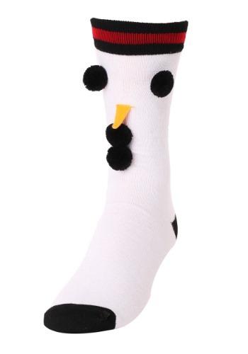 3D Novelty Snowman Crew Socks