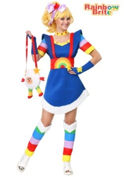 Women's Plus Size Rainbow Brite Costume