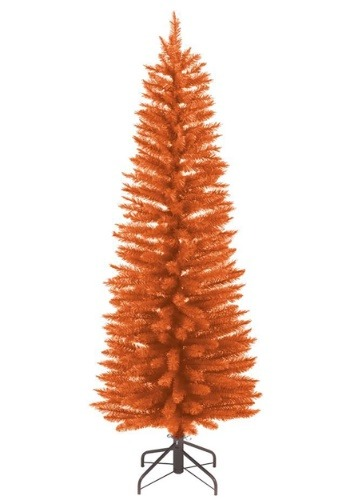 3 Foot Pre-Lit Orange Halloween Tree