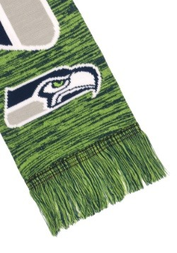 Seattle Seahawks Wordmark Big Logo Colorblend Scarf Alt2