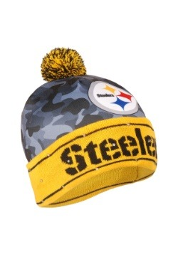 Pittsburgh Steelers Camouflage Light Up Printed Beanie