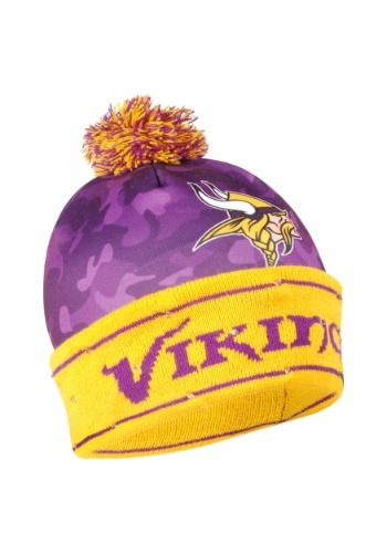 Minnesota Vikings Camouflage Light Up Printed Beanie