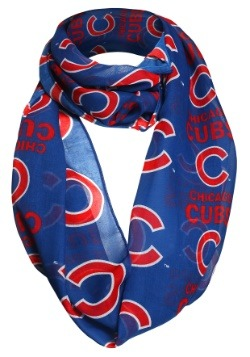 Chicago Cubs Team Logo Infinity Scarf
