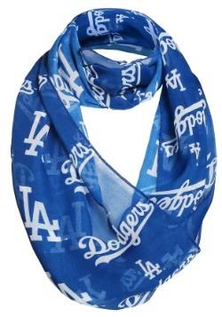 Los Angeles Dodgers Team Logo Infinity Scarf