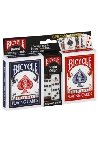 Bicycle Playing Cards 2-Pack and Dice Set