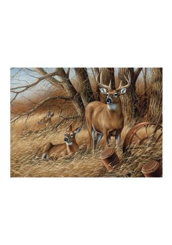 Deer Rustic Retreat 1000 Piece Cobble Hill Puzzle