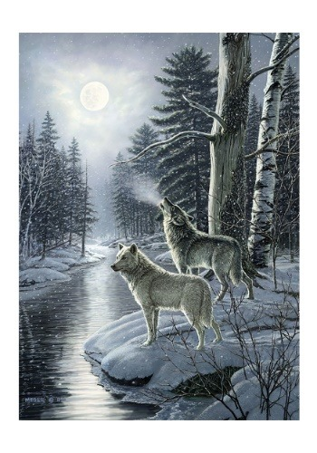 Wolves by Moonlight 1000 Piece Cobble Hill Puzzle