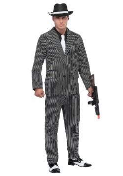 Wide Pin Stripe Gangster Mens Costume