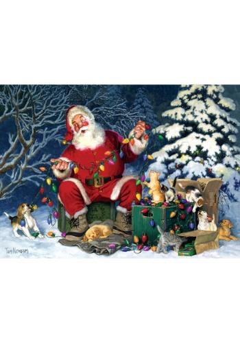 500 Piece Santa's Little Helper  Cobble Hill Puzzle