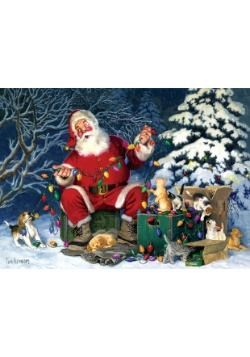 500 Piece Santa's Little Helper  Cobble Hill Puzzle
