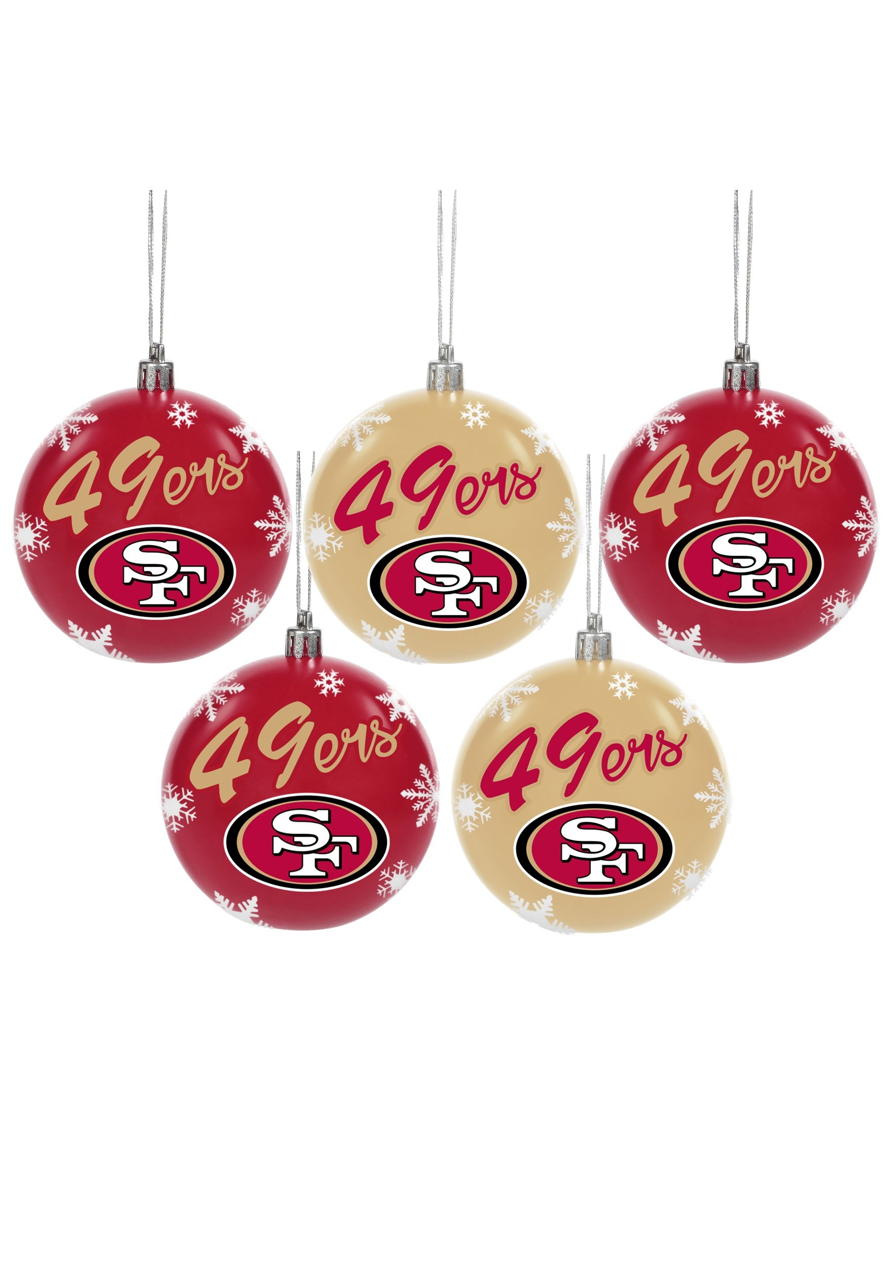 Us fish and wildlife san francisco 49ers 5 pack shatterproof ball ornament set stopboris Image collections