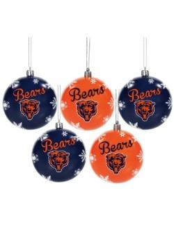 Chicago Bears 5 Pack Shatterproof Ball Ornament Set