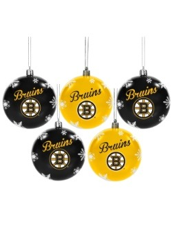 Boston Bruins 5 Pack Shatterproof Ball Ornament Set