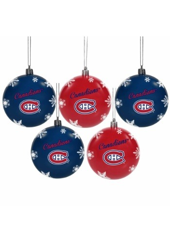 Montreal Canadiens 5 Pack Shatterproof Ball Ornament Set