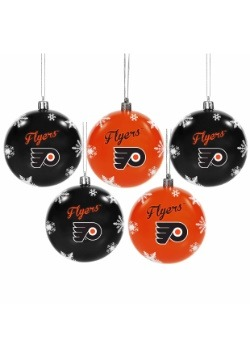 Philadelphia Flyers 5 Pack Shatterproof Ball Ornament Set