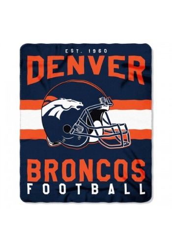 NFL Denver Broncos Singular Fleece Throw