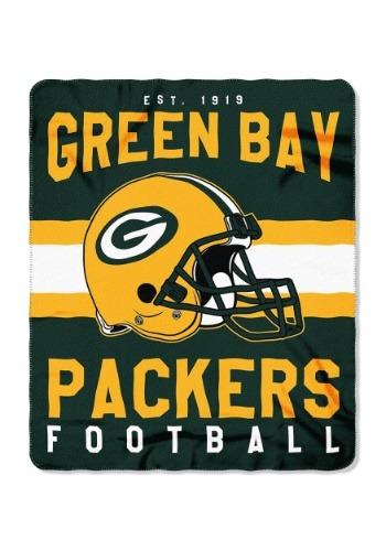 Green Bay Packers NFL Singular Fleece Throw