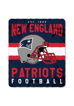 NFL New England Patriots Singular Fleece Throw