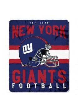 New York Giants NFL Singular Fleece Throw