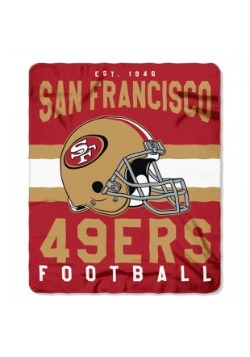 San Francisco 49ers NFL Singular Fleece Throw