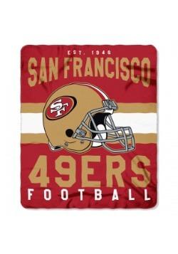 San Francisco 49ers NFL Singular Fleece Throw