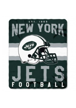 New York Jets NFL Singular Fleece Throw