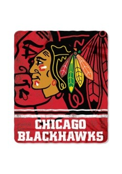 Chicago Blackhawks NHL Fadeaway Fleece Throw