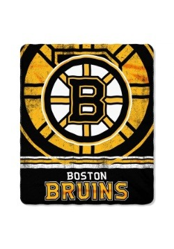 Boston Bruins NHL Fadeaway Fleece Throw