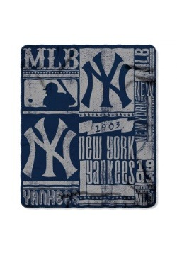 New York Yankees MLB Strength Fleece Throw