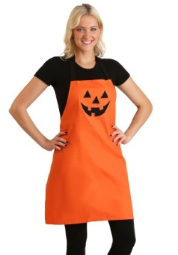 Orange Jack O'Lantern Embroidered Apron
