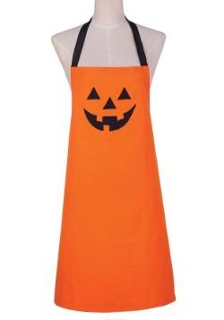 Orange Jack O'Lantern Embroidered Apron