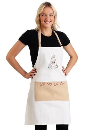 Puppy Christmas Tree Embroidered Apron
