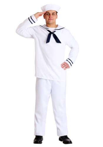 White Sailor Man Costume