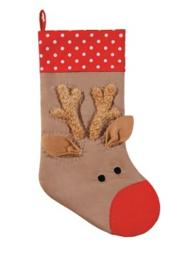 Rudolph Face Christmas Stocking
