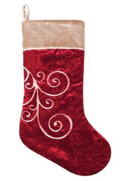 Red Embellish Christmas Stocking