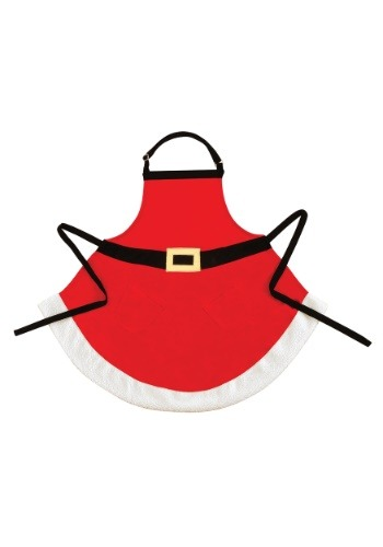 Child Mrs Claus Velvet Apron